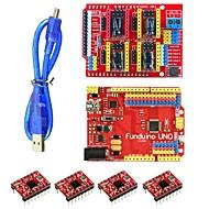 Funduino 3dv3 CNC Schild v3 + uno + reprap Schritt Treiber für Arduino-Set - Rot