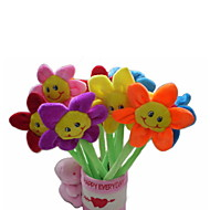 6PCS New Beauty Plush Sunflower Pens
