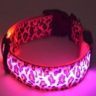 Cat / Dog Collar LED Lights / Batteries Included White / Pink / Yellow Nylon