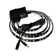 JIAWEN® Waterproof 1M 4W 60x3528SMD 6000-6500K White LED Flexible Strip Light + 1A Power (AC 110-240V)