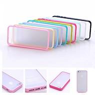 Multi-Color Soft TPU Frame Gel Translucent Scrub PC Hard Back Case for iPhone 4/4S(Assorted Color)