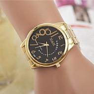 kvinners mote rhinestones arabisk tall stål belte kvarts håndleddet watch (assorterte farger)