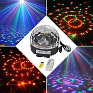 18W RGB LED mp3 scenen dj disco club pub fest krystall magi ball lys eu (AC100-240V)