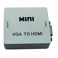 mini vga Audio a HDMI 1080p adattatore convertitore con potenza usb audio per pc d