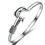 Bransoletki Bransoletki bangle Srebro standardowe Animal Shape Przyjaźń Ślub / Impreza Biżuteria Prezent Srebrne,1szt