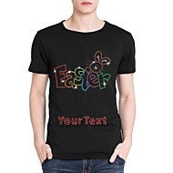 Personalized Rhinestone T-shirts Easter Pattern Men's Cotton Short Sleeves