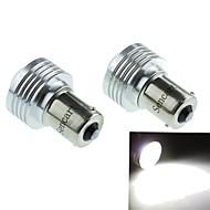 1156 (P21W BA15s) 3W 3cob 220-260lm 6500-7500k hvidt lys LED pære til bil baklygte (DC12V / 2pcs)