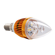 E14 3 W 3 High Power LED 270 LM Warm White Dimmable Candle Bulbs AC 220-240 V