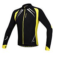 Santic мужская куртка на велосипеде / задействуя Джерси с длинным рукавом теплый флис ветрозащитный велосипеде куртки + спандекс флис c01023y
