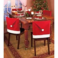 1Stk Julepynt Julemanden Rød Hat Stolbagetuier