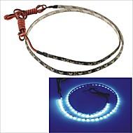 carking ™ 335-60smd-60 centímetros luz do carro flexível brilho lado decorativo tira impermeável (12v)