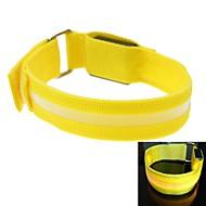 LED Light Screen Arm Band Strap Armband Yellow (2xCR2032)