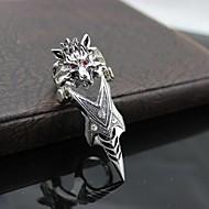 z&x® estilo punky de la vendimia anillo fresco estupendo de los hombres lobo aleación nudillo