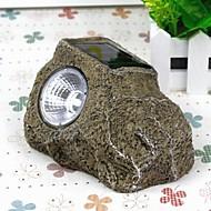 led solare pietre sintetiche alimentati lampada prato notte