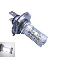 h4 cree ledx12 60w 6500k -7000k vitt ljus ledde glödlampa för bil (12-24V, 1st)