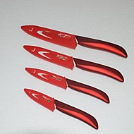 4 Pieces 3'' /4'' / 5'' / 6'' Flower Printed Ceramic Knife Set with Covers