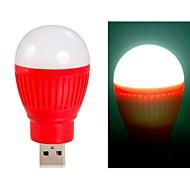 ampoule en forme de boule super brillantes alimenté par USB Mini LED lumière de nuit (rouge)