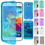df® Flip klare weiche dünne TPU Silikon Ganzkörperhülle für Samsung Galaxy G800 s5 mini (farblich sortiert)