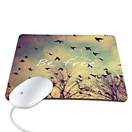 Elonbo Be Free PU Leather Anti-slip Mousepad Computer Mouse Pad