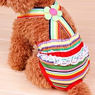 Lovely Rainbow Pattern Sanitary Pants for Pet Dogs(Assorted Size)