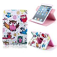 The Owl Design PU Full Body Case with Stand for iPad mini 1/2/3