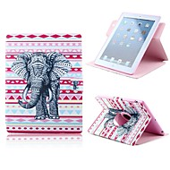 The Elephant Design PU Full Body Case with Stand for iPad Air