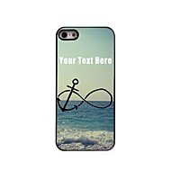 Personalized Phone Case - Anchor and Beach Design Metal Case for iPhone 5/5S