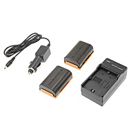 3.7v 2200mAh LP-E6 Camera Battery for Canon 5D markIII/5D MarkII/7D/60D/6D with Charger(2 Batteries+1 Charger)