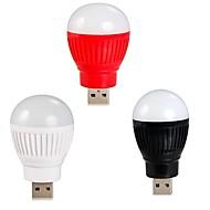 KLW usb 2w100lm 1-białe LED światła energooszczędne mini Żarówka LED noc lampy (różne kolory)