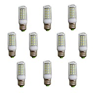 10 pcs E26/E27 7 W 56 SMD 5730 600 LM Warm White/Cool White Corn Bulbs AC 220-240 V