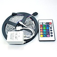 5M 5050 RGB 150 LEDs and 24Key Remote Controller LED Strips Light