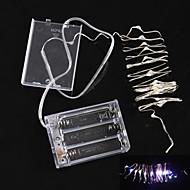 2m 2w natale Flash 20-led a cinque colori della lampada luce di striscia di luce (4.5V, 3 * aa)