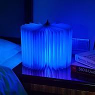LED Flip Book Light Sleep USB Charging Folding Book Creative Gift Bedside Night Light