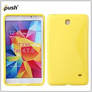For Samsung Galaxy Case Embossed Case Back Cover Case Solid Color TPU Samsung Tab 4 7.0