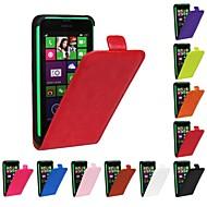 For Nokia etui Flip Etui Heldækkende Etui Helfarve Hårdt Kunstlæder for NokiaNokia Lumia 1020 Nokia Lumia 830 Nokia Lumia 730 Nokia Lumia