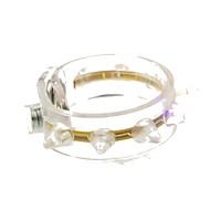 führte blinkendes Armband Design Plastikpartei LED-Licht-Stick (zufällige Farbe x1pcs)