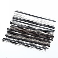 כותרות סיכת PCB זווית נכונה שורה אחת 2.54mm המגרש 1 x 40 פינים (20pcs)