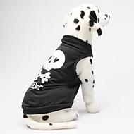Köpekler Tişört Siyah Yaz Kalpler / Kuru Kafalar