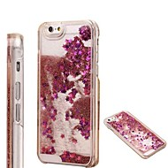 Fashion Transparent Glitter Sand Bling Quicksand Star Pattern hoesje for iPhone 4/4S(Assorted Colors)