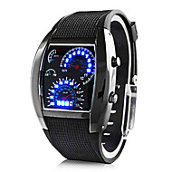 Gepersonaliseerde Gift Heren Horloge , Digitaal / LED Kwarts Horloge With Legering Materiaal Rubber Band SporthorlogeWaterdichtheid