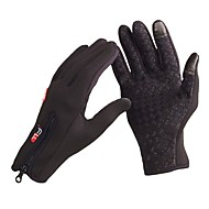 Adjustable Men's Full Finger Fleece Outdoor Windproof Thermal Winter Ski Cycling Skiing Hiking Gloves