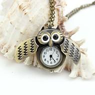 coruja relógio de bolso de esmalte colhedores de metal personalizados