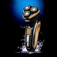 kemei® barbeador à prova d'água recarregável