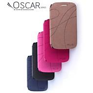 forfremmelse fire yu serien telefon i læder til Galaxy stil duo i8262d (assorterede farver)