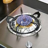 10 pcs multifunções folha de alumínio de alta temperatura à prova de óleo (cor aleatória)