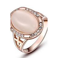 kvinners Roxi utsøkt rose-gullbelagt elliptiske perle ringer