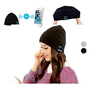 Bluetooth Winter Knit Beanie Headset with Microphone(Black and White)