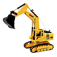 DZD 3823 RC Car Engineering Excavation Remote Control Excavator Toy Truck with Light Sound
