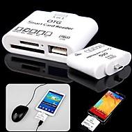 5-i-1 micro usb tf / sd / ms OTG smartkortsläsare för samsung galaxy i9500 / i9300 / not 3