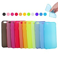 Para Funda iPhone 7 / Funda iPhone 7 Plus / Funda iPhone 6 / Funda iPhone 6 Plus Ultrafina Funda Cubierta Trasera Funda Un Color Suave TPU